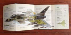 Page foldout from Fighter Planes nonfiction book by Henry James from Usborne