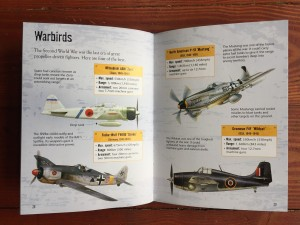 Warbirds page spread from Fighter Planes book by Henry Book from Usborne