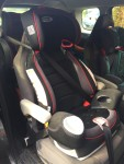Graco Nautilus 3 in 1 three in one booster seat for kids installed in middle row of Mazda5 minivan