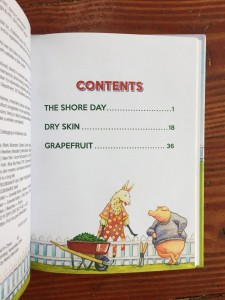Poppleton and Friends table of contents three story titles and page number