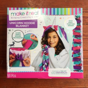 Unicorn Hoodie Blanket Kit by Make It Real arts crafts do it yourself project for kids