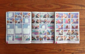 Instruction booklet showing illustrated steps for Make It Real Unicorn Hoodie Blanket kit