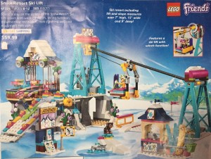 Lego catalog page with Snow Resort Ski Lift Friends 41324