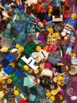 Lego figures people and accessories stored in drawer