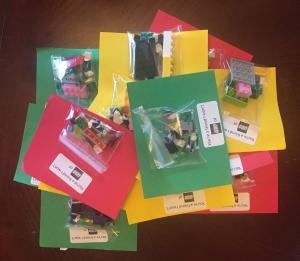 Lego Valentine's Day craft for kids classmates