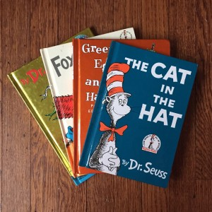 The Cat in the Hat, Green Eggs and Ham, Fox in Socks. and One Fish, Two Fish, Red Fish Blue Fish by Dr. Seuss Theodor Giesel
