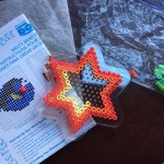 Fuse melty Perle beads on six pointed star pegboard