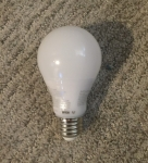 Light bulb laying on carpet