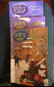 The Secrets of Droon books by Tony Abbott The Great Ice Battle The Sleeping Giant of Goll and Voyagers of the Silver Sand