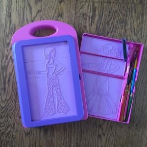 Melissa & Doug fashion design art kit for kids fashion plates case with colored pencils