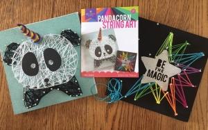 Craftastic Pandacorn string art kit rainbow start be the magic pin thread rainbow art