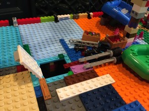 Lego pirate ship homemade no manual trap door