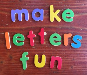 Melissa & Doug See and Spell wooden colorful lowercase letters used to spell make letters fun on