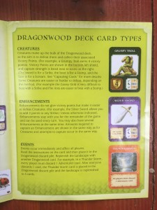 Dragonwood deck card types instructions and explanation