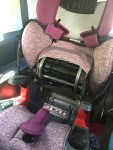 Britax Grow With You harness to booster car seat with ClickTight mechanism shown opened