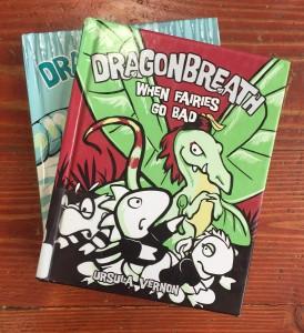 Dragonbreath books by Ursula Vernon When Fairies Go Bad and The Frozen Menace