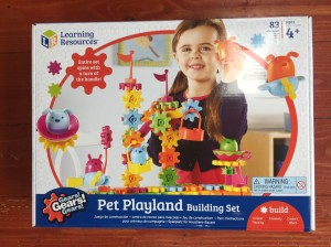 Gears! Gears! Gears! Pet Playland building set box from Learning Resources