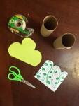 Supplies to make toilet paper tube trees kids arts and crafts easy project
