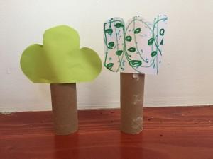 Toilet paper tube trees