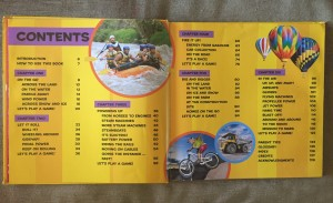 National Geographic Little Kids First Big Book of Things That Go table of contents