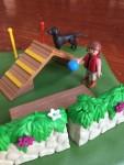Playmobil Dog Park Super Set with child holding blue ball for black dog figure