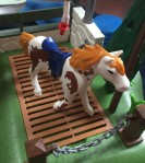 Playmobil Horse Grooming Station shower toy