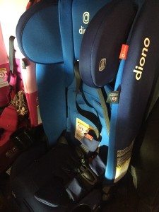 Diono Radian 3RXT 3-in-1 convertible car seat in blue