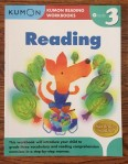 Kumon Reading Workbook Grade level 3 kids learning skills practice