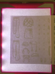 Crayola light up tracing board turned on with paper on top