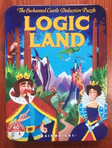 Logic Land Enchanted Castle deduction puzzles in tin