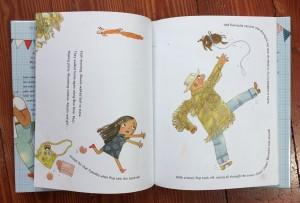 Page spread from Sofia Valdez, Future Prez picture book for kids by Andrea Beaty