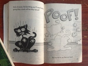 Page excerpt from Bad Kitty Gets a Bath chapter book graphic novel for kids by Nick Bruel