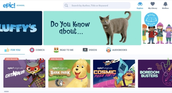 Epic books online library resource for kids screen shot