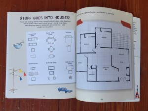 Floorplan page spread from Iggy Peck's Big Book of Projects for Amazing Architects by Andrea Beaty