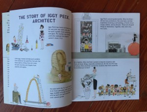 Iggy Peck's Big Book of Projects for Amazing Architects inside page spread story