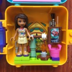 Lego Friends Andrea Jungle Play Cube set up with sloth pet