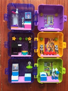 Lego Friends Play Cubes vet, music recording studio, and photography studio