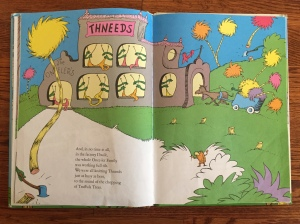 Page spread from The Lorax by Dr. Seuss