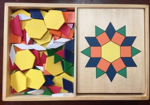 Melissa & Doug Pattern Blocks wooden toy for kids tangram pieces