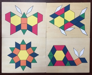 Melissa & Doug wooden pattern block boards