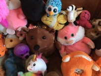Stuffed animals in pile