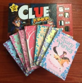 Clue Junior board game for kids with Fairy Ponies and Fairy Unicorns books