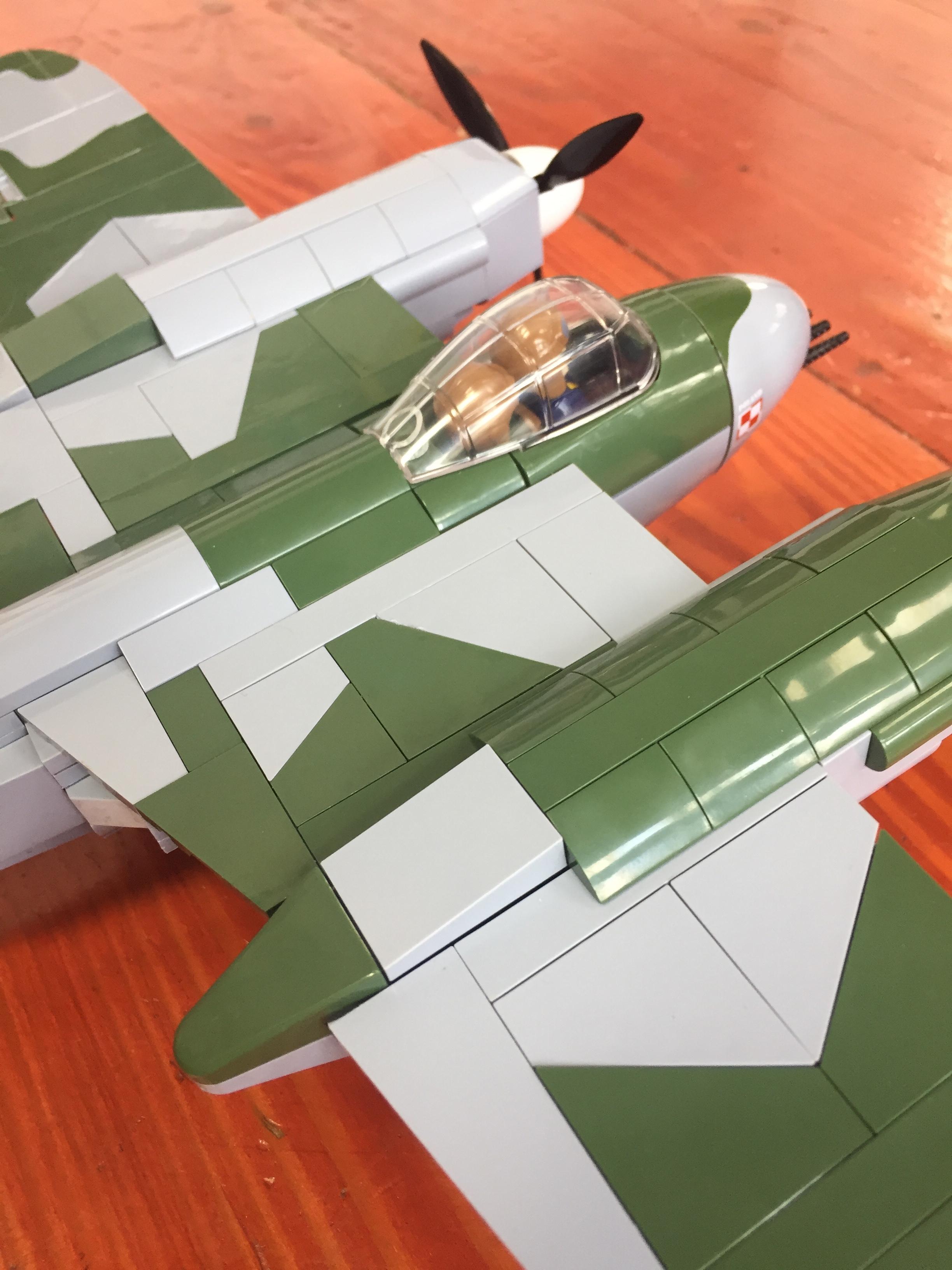COBI Historical Collections building bricks toys De Havilland airplane model