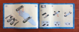 COBI historical collection De Havilland airplane model instruction booklet open to step 45