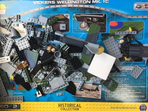 COBI Historical Collection Vickers Wellington MK model airplane building bricks set toy for kids