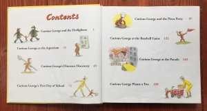 Curious George Stories to Share picture book table of contents