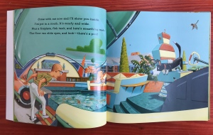 If I Built a Car page spread from Chris Van Dusen's picture book for kids pool in car