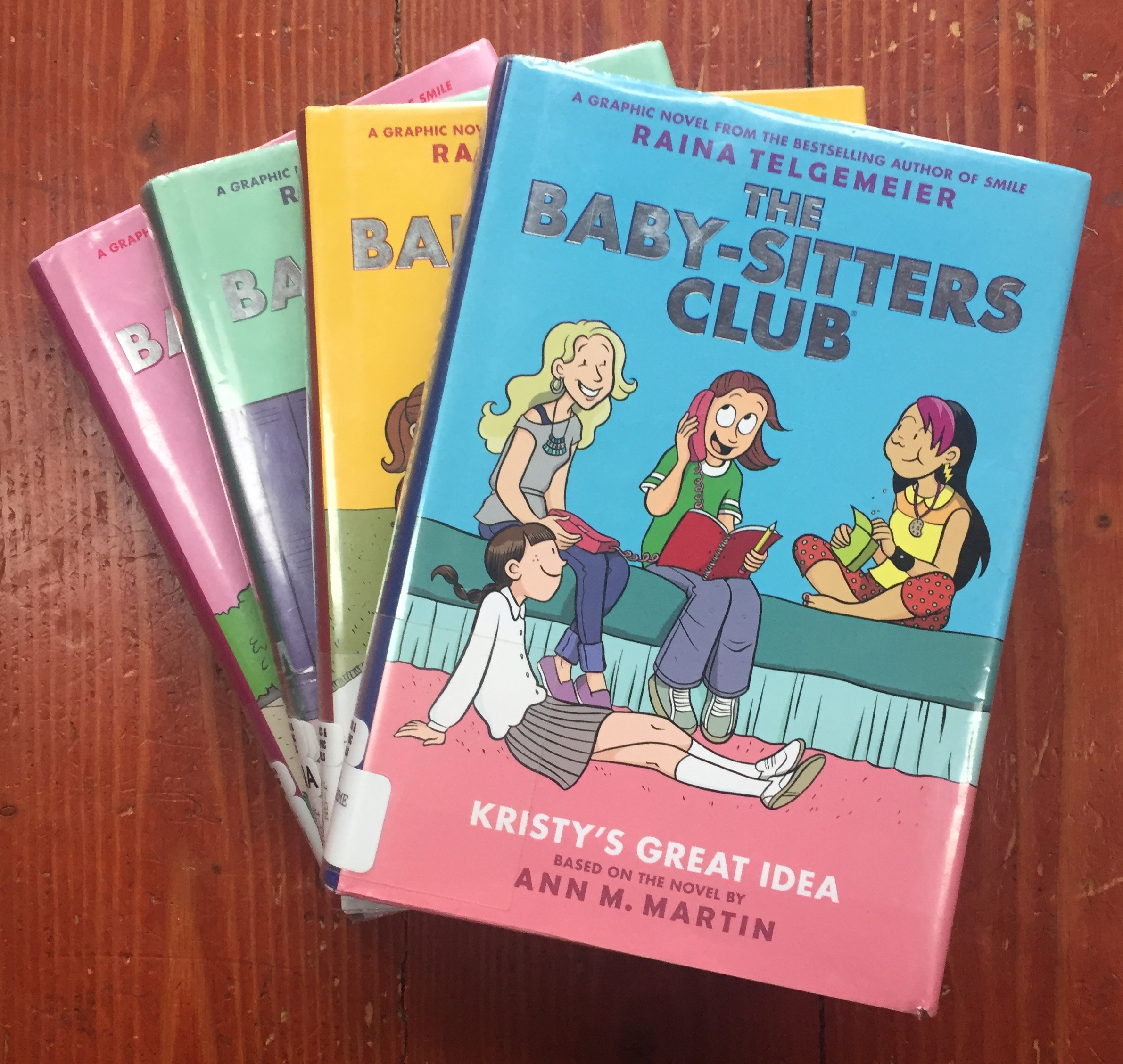 The Baby-Sitters Club books graphic novels number one to four by Ann M. Martin and Raina Telgemeier