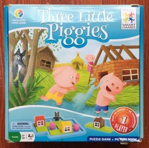 Three Little Piggies logic puzzle game for kids in box