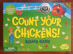 Count Your Chickens Cooperative board game for young kids by Peaceable Kingdom